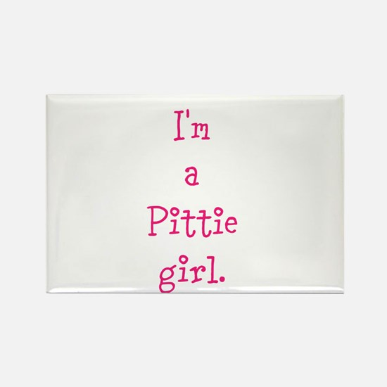 I'm a Pittie girl. Rectangle Magnet (100 pack)