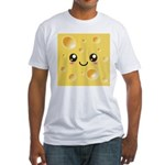 Cute Kawaii Happy Cheese Fitted T-Shirt
