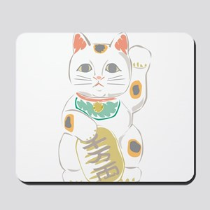 Japanese Lucky Cat Mousepad