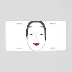 Japanese Mask Aluminum License Plate