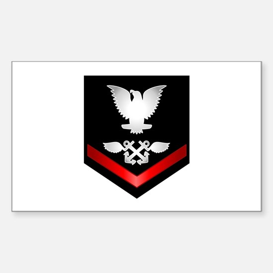 Navy PO3 Aviation Boatswain Sticker (Rectangle)