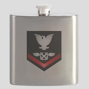 Navy PO3 Aviation Boatswain Flask