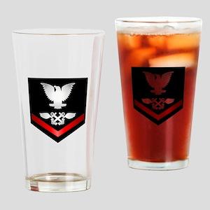Navy PO3 Aviation Boatswain Drinking Glass
