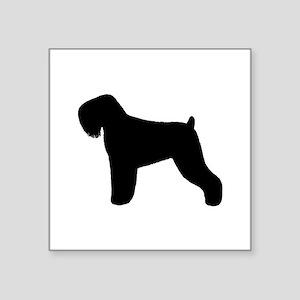 """Black Russian Terrier Square Sticker 3"""" x 3"""""""