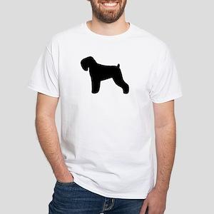 Black Russian Terrier White T-Shirt