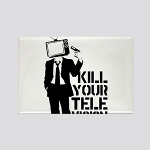 Kill Your Television Rectangle Magnet