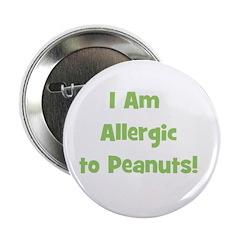 Allergic to Peanuts (green) Button