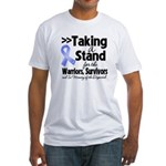 Stand Stomach Cancer Fitted T-Shirt