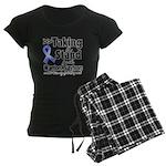 Stand Stomach Cancer Women's Dark Pajamas