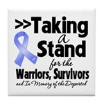 Stand Stomach Cancer Tile Coaster
