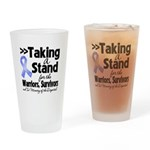Stand Stomach Cancer Drinking Glass