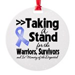Stand Stomach Cancer Round Ornament