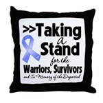 Stand Stomach Cancer Throw Pillow