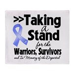 Stand Stomach Cancer Throw Blanket