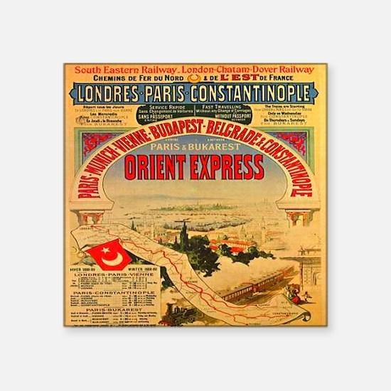"Orient Express Square Sticker 3"" x 3"""