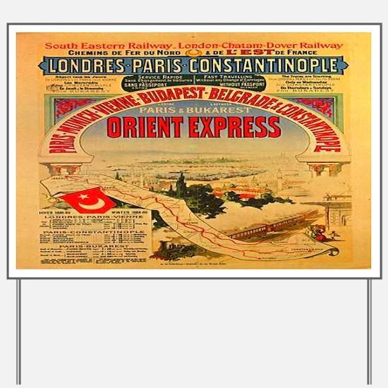 Orient Express Yard Sign