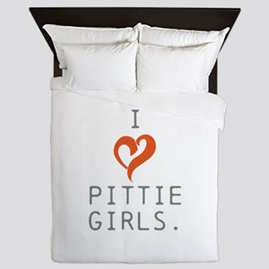 I heart Pittie girls. Queen Duvet