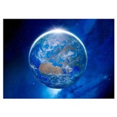 Earth from space, artwork Poster