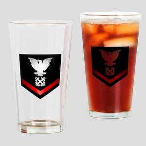 Navy PO3 Boatswain Drinking Glass