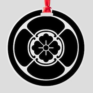 Square mokko in circle Round Ornament