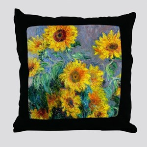 Monet - Sunflowers Throw Pillow