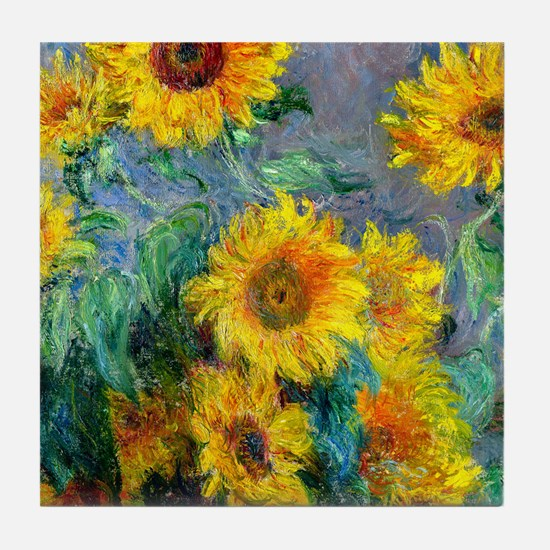 Monet - Sunflowers Tile Coaster