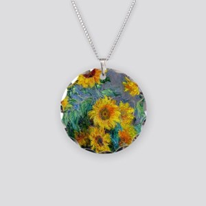 Monet - Sunflowers Necklace Circle Charm