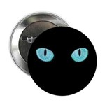 """Blue Cat Eyes 2.25"""" Button (10 pack)"""