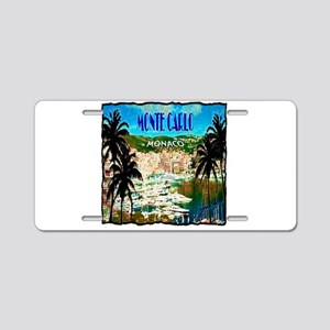 monte carlow monaco illustration Aluminum License