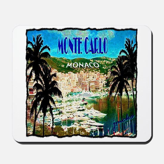 monte carlow monaco illustration Mousepad