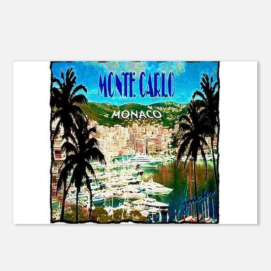 monte carlow monaco illustration Postcards (Packag