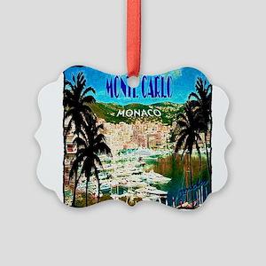 monte carlow monaco illustration Picture Ornament