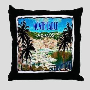 monte carlow monaco illustration Throw Pillow