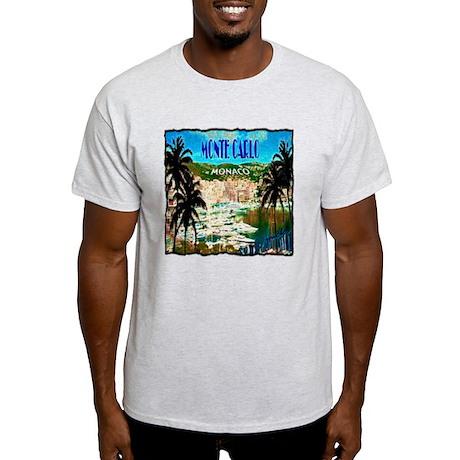 monte carlow monaco illustration Light T-Shirt