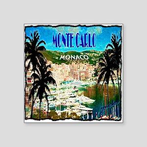 """monte carlow monaco illustration Square Sticker 3"""""""