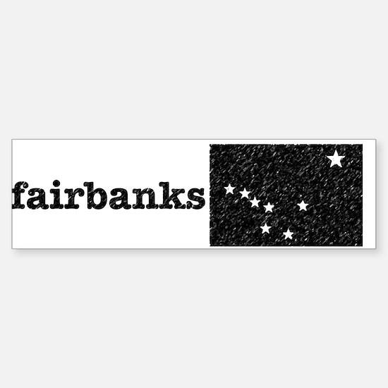 Aged fairbanks sticker Sticker (Bumper)