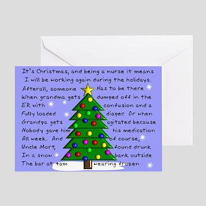 Nurse Christmas Greeting Cards