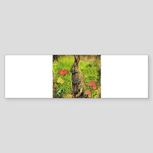 rabbit frog Sticker (Bumper)