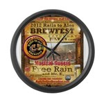 2012 Rails to Ales Brewfest Large Wall Clock