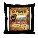 2012 Rails to Ales Brewfest Throw Pillow