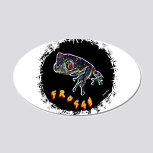 froggy 20x12 Oval Wall Decal