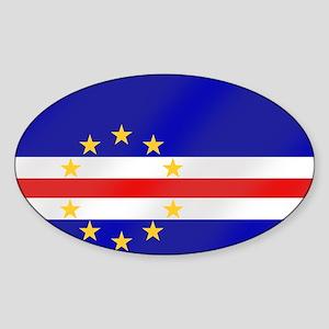 Cabo Verde Flag Sticker (Oval)