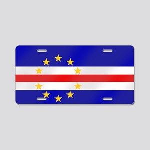 Cabo Verde Flag Aluminum License Plate