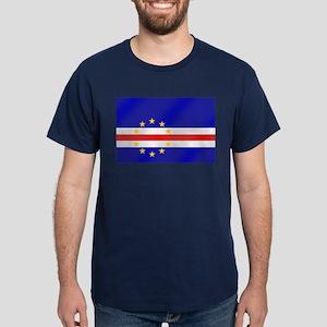 Cabo Verde Flag Dark T-Shirt