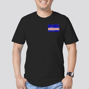 Cabo Verde Flag Men's Fitted T-Shirt (dark)