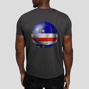 Cape Verde Soccer Ball Dark T-Shirt