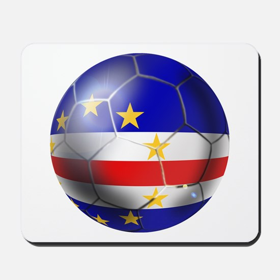 Cape Verde Soccer Ball Mousepad