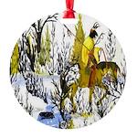 Winter Warrior Round Ornament