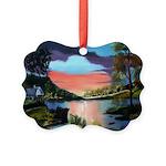 Cabin Retreat Picture Ornament