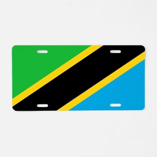 Flag of Tanzania Aluminum License Plate